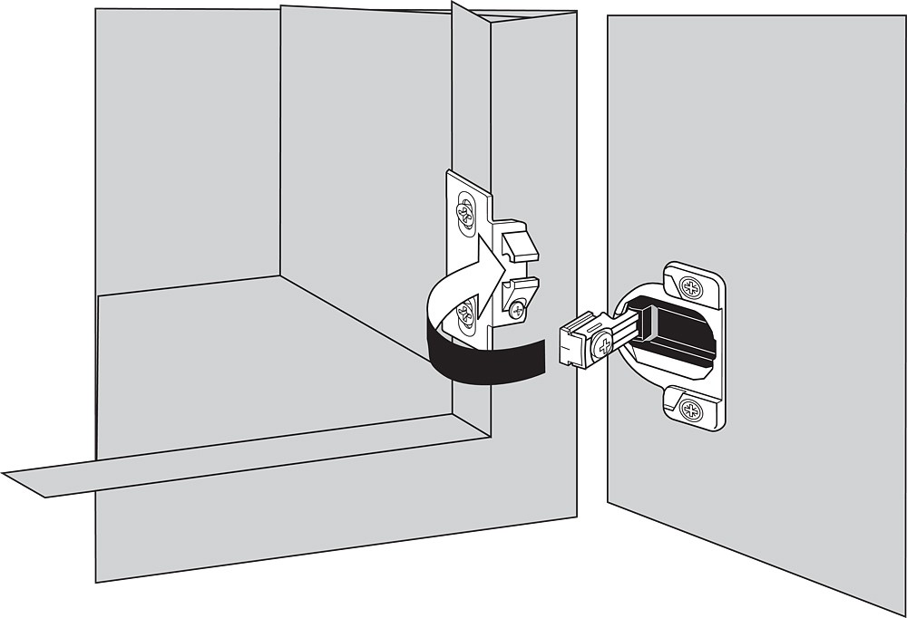 Blum 33.3630 110 Degree COMPACT 33 Hinge Cup Only, Dowel. Base plates sold separately :: Image 60