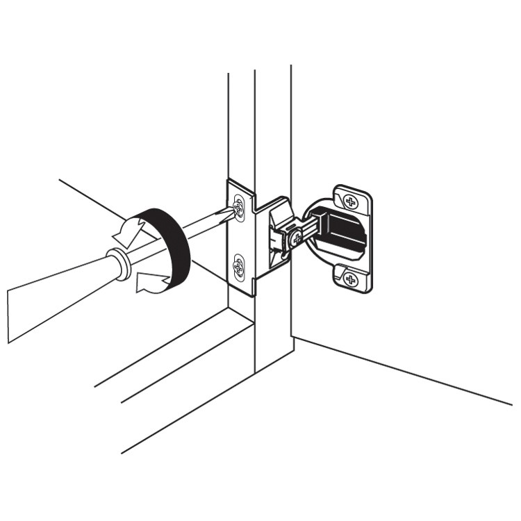 Blum 39C358C.22 Compact 39C Face Frame Hinge, Self-Close, 110 Degree, 1-3/8 Overlay, Dowel :: Image 100