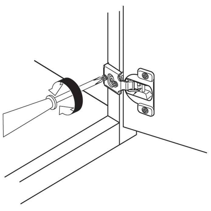 Blum 39C358C-1/4 Compact 39C Face Frame Hinge, Self-Close, 110 Degree, 1-9/16 Overlay, Dowel :: Image 40
