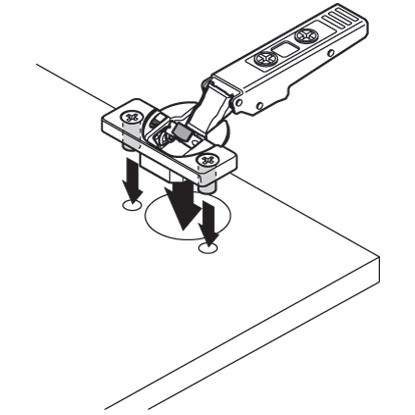Blum 79B9980 95 Degree CLIP Top BLUMOTION Blind Corner Hinge, Soft-Close, Full Overlay, Dowel :: Image 160