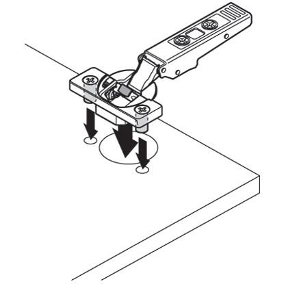 Blum 79B9980 95 Degree CLIP Top BLUMOTION Blind Corner Hinge, Soft-Close, Full Overlay, Dowel :: Image 80