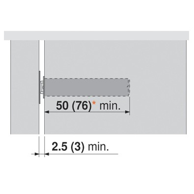 Blum 956A1004 TIP-ON Mechanism Sets for Large Doors