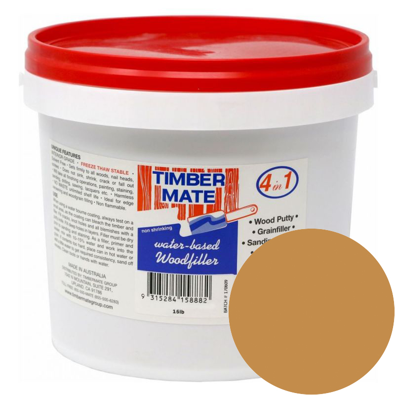 1 Gallon Tasmanian Oak Water-Based Wood Putty, Ready to Use, Timbermate Products TAO8 :: Image 10