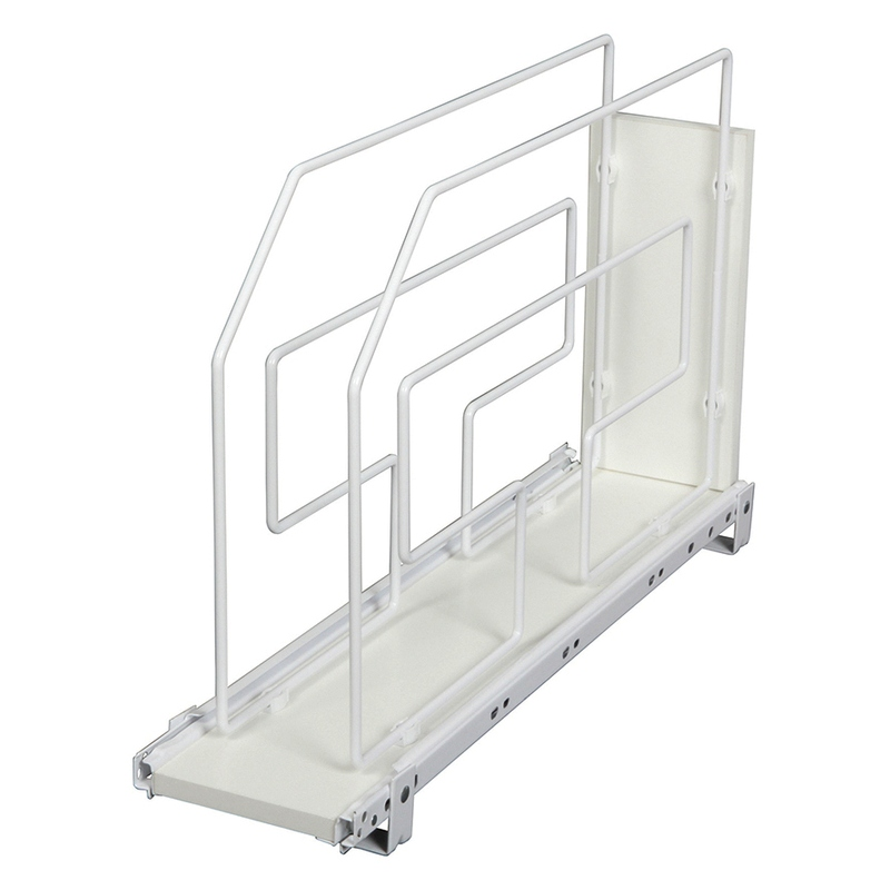 KV TDRO6-W, 6in Melamine Based Tray Divider Roll-Out, KV Series, White, 6 W x 22 D x 19-1/2 H, Knape and Vogt :: Image 10