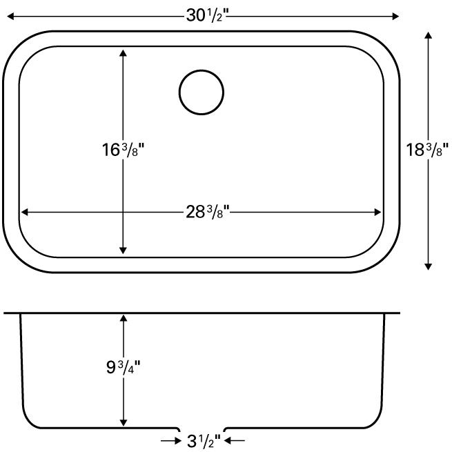 "Karran U3018, 30-1/2"" x 18-3/8"" Undermount Bar/ Prep Sink, Single Bowl, Stainless Steel :: Image 20"