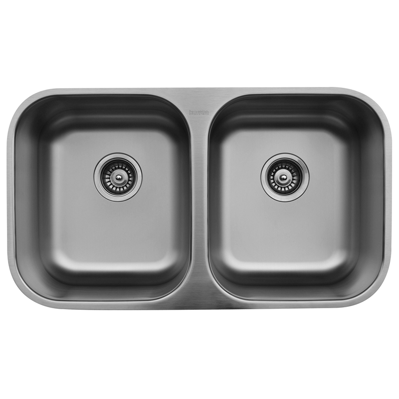 "Karran U5050, 31-1/4"" x 18"" Undermount Bar/ Prep Sink, Single Bowl, Stainless Steel :: Image 10"
