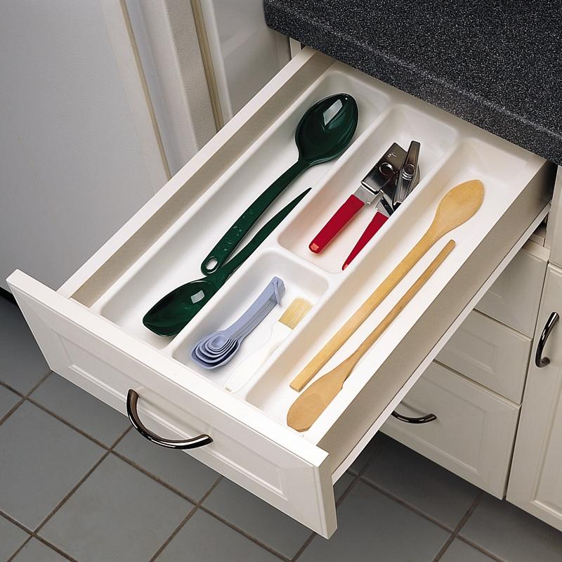 """14-1/4"""" Utensil Drawer Insert, Plastic, White, Rev-a-shelf  UT-12W-20 :: Image 20"""