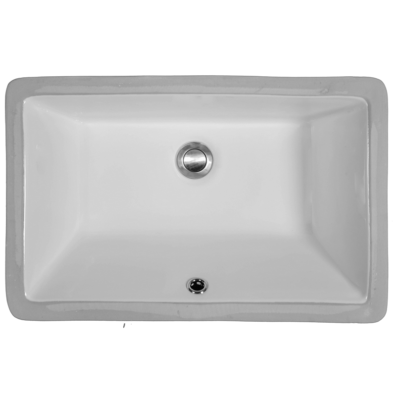 "Karran VC108WH, 21"" x 13-3/8"" Vitreous China Vanity Undermount Sink Single Bowl, White :: Image 10"