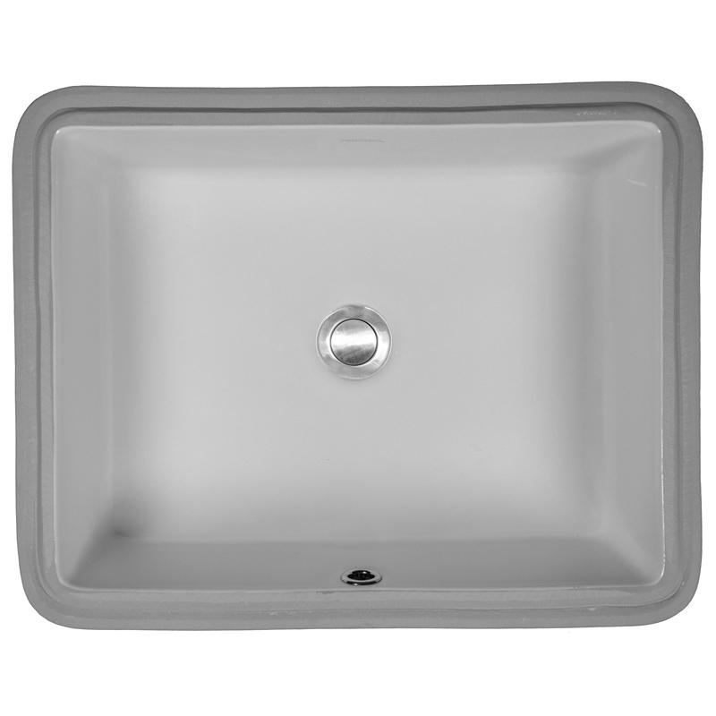 "Karran VC110WH, 19-1/2"" x 15-1/2"" Vitreous China Vanity Undermount Sink Single Bowl, White, ADA :: Image 10"