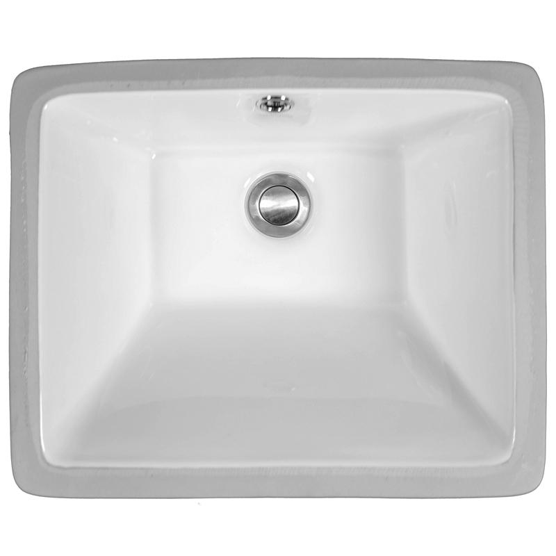 "Karran VC115WH, 17"" x 13-3/4"" Vitreous China Vanity Sinks Undermount Sink Single Bowl, White :: Image 10"