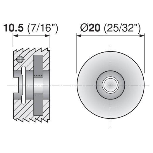 Blum 295.1000.21 Drawer Front Adjuster, 1000 pack :: Image 140