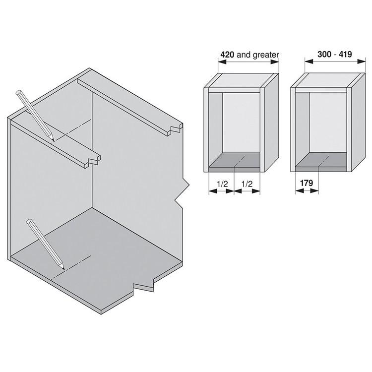 Blum ZML.1150.US SERVO-DRIVE Boring Template for Adaptors :: Image 100