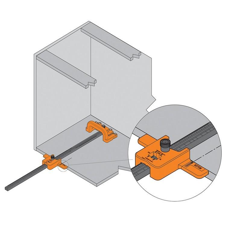 Blum ZML.1150.US SERVO-DRIVE Boring Template for Adaptors :: Image 40