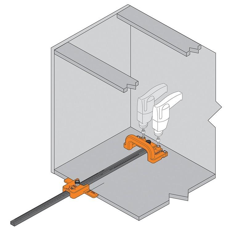 Blum ZML.1150.US SERVO-DRIVE Boring Template for Adaptors :: Image 80