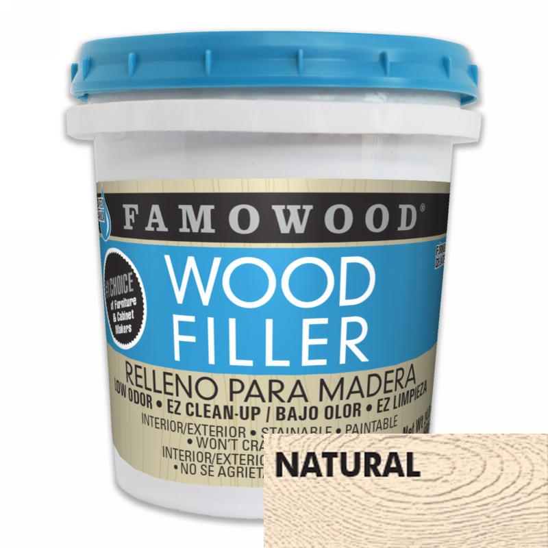 FamoWood 40022126 Wood Filler, Water Based, Natural, 24 oz (1 Pint) :: Image 10