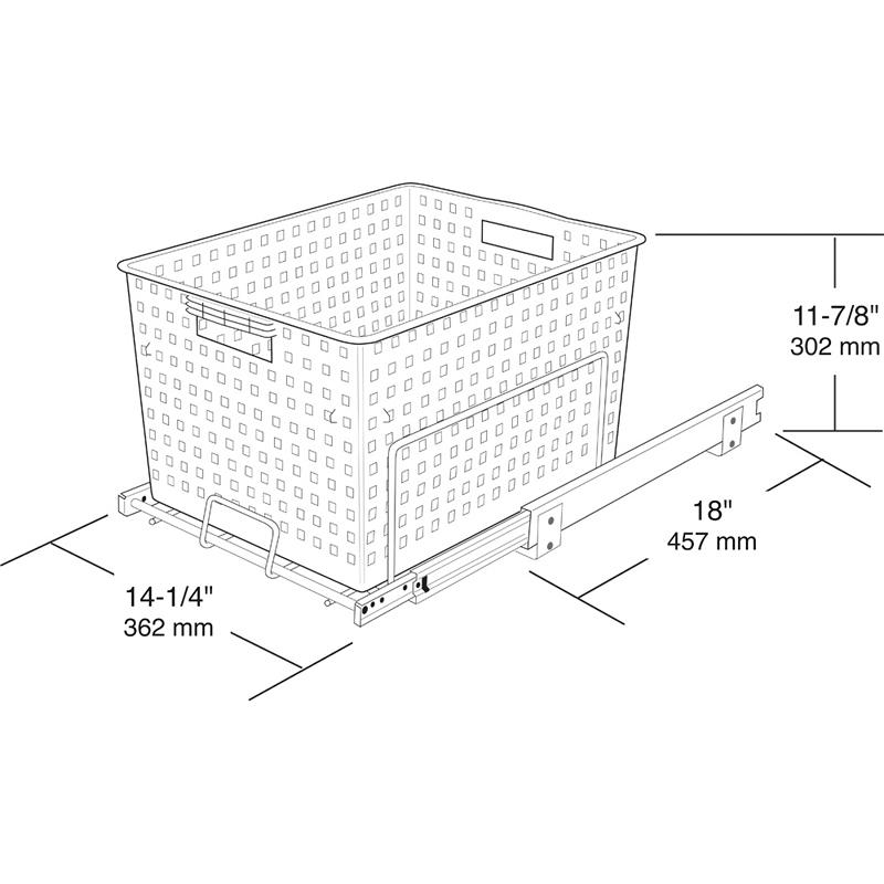 Rev-A-Shelf HURV-1512 S - Pullout Hamper/Utility Basket :: Image 20