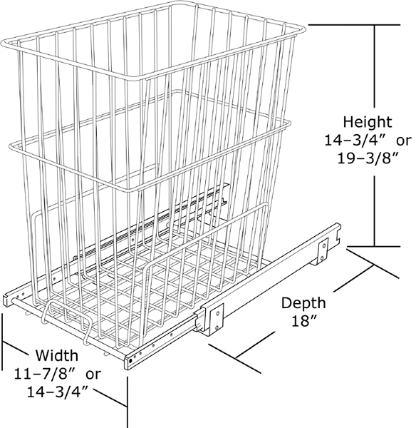 Rev-A-Shelf HRV-1215 S - Pullout Wire Hamper :: Image 40