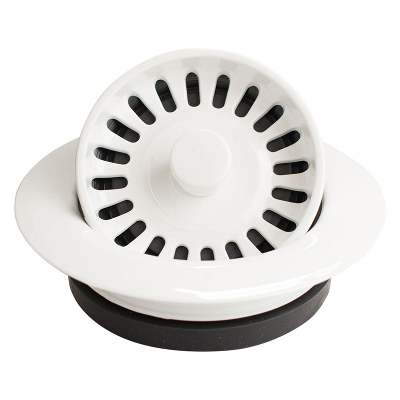 Karran ADFWH Garbage Disposal Flanges For Karran Acrylic Sinks, White :: Image 10