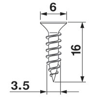 Blum 606P-1000 #6 x 5/8 Deep Thread Wood Screw, Pozi :: Image 40