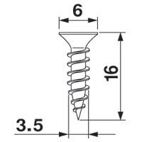 Blum 606N-100 #6 x 5/8 Deep Thread Wood Screw, Phillips, Bulk-100 :: Image 10