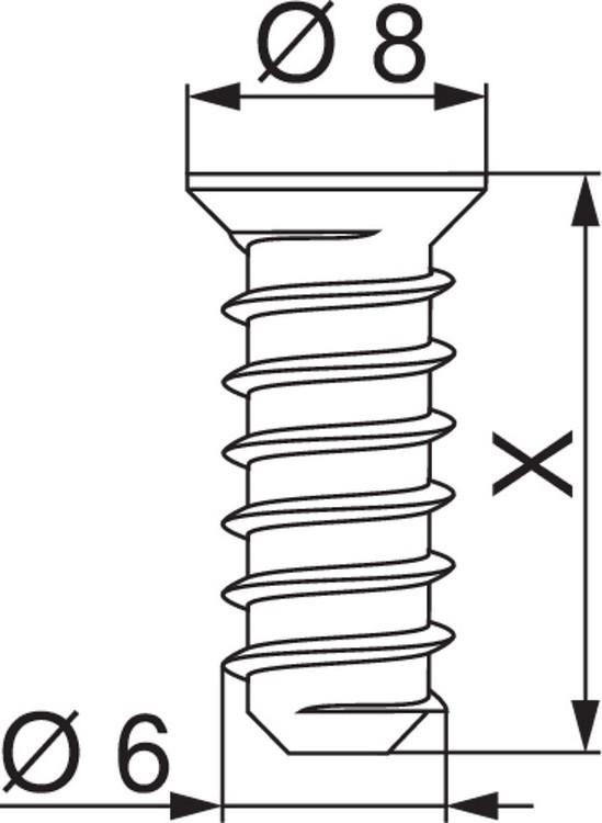 Blum 661.2000.HG #7 x 20mm Deep Thread System Euro Screws :: Image 20