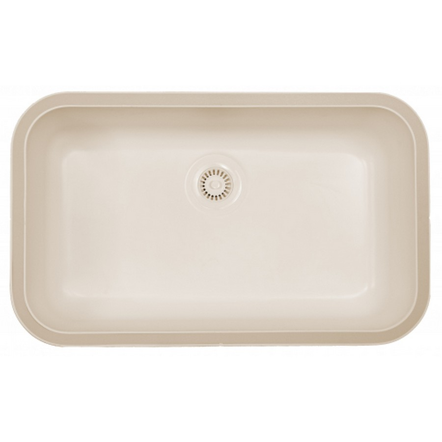 "Acrylic Undermount Kitchen Sink Single Bowl 30-1/2"" x 18-1/2"" Bisque Karran A-340 BISQUE"