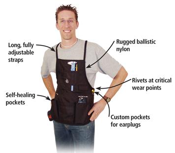 FastCap Ballistic Self Heal Woodworking Apron, Black :: Image 20