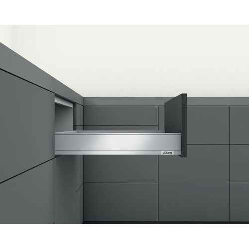 "Blum 770M2702S LEGRABOX 11"" M Height (3-9/16"") Drawer Profile, BLUMOTION, Orion Gray :: Image 50"