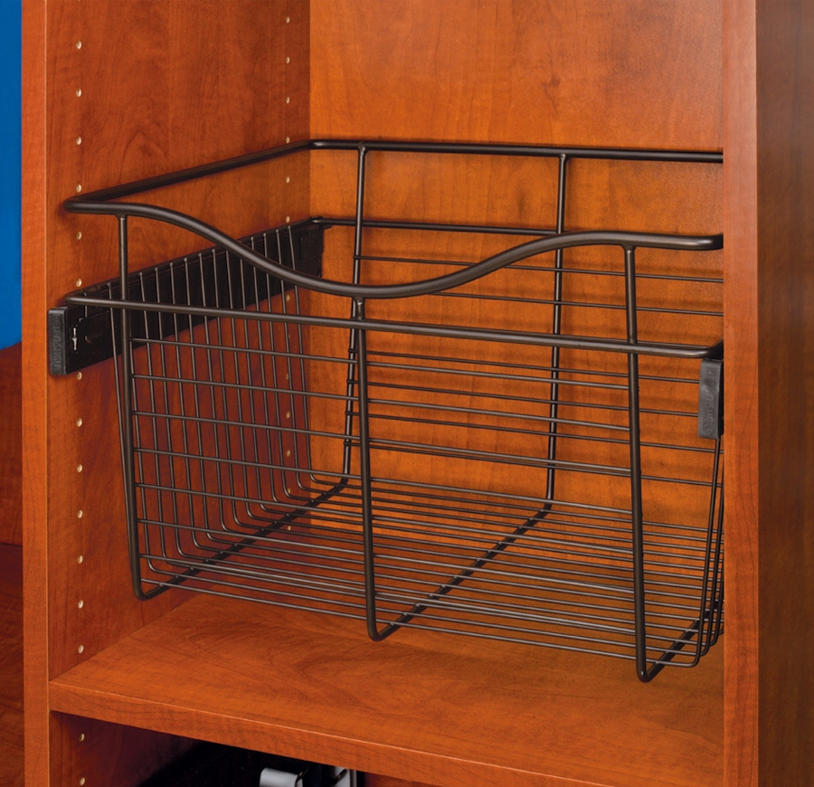 Rev-A-Shelf CB-182011ORB-1 - Wire Basket 20inD Closet Pullout Basket, Oil-Rubbed Bronze :: Image 10