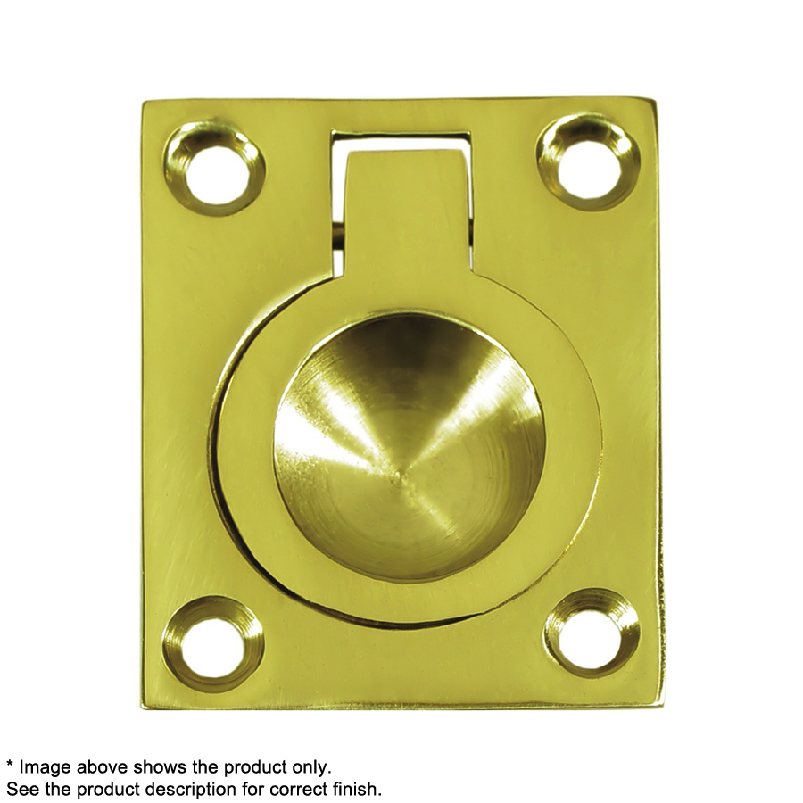 Deltana FRP25CR003, Flush Ring Pull, 2-1/2 x 1-7/8, Lifetime Brass :: Image 10