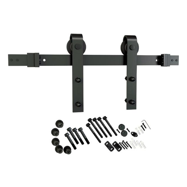 Barn Door Hardware Kit, Flat Rail, Face Mount, Oil Rubbed Bronze, WE Preferred 77214 53 007 :: Image 10