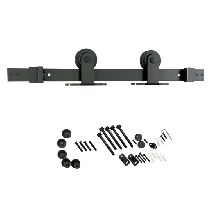 Barn Door Hardware Kit, Flat Rail, Top Mount, Black, WE Preferred 77224 51 008 :: Image 10