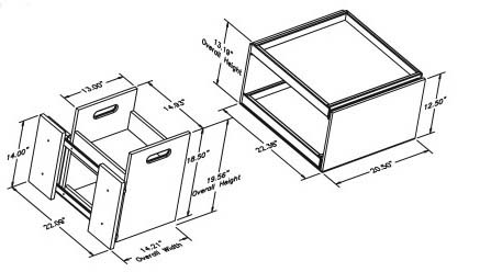 Kitchen Mate Line Drawing