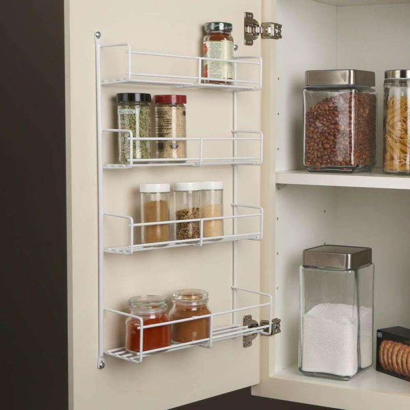 KV SR18-W, 13-13/16 Cabinet Door Spice Rack, KV Series, White Wire, 13-13/16 W x 3-7/8 D x 20 H, 5-Pack, Knape and Vogt :: Image 30