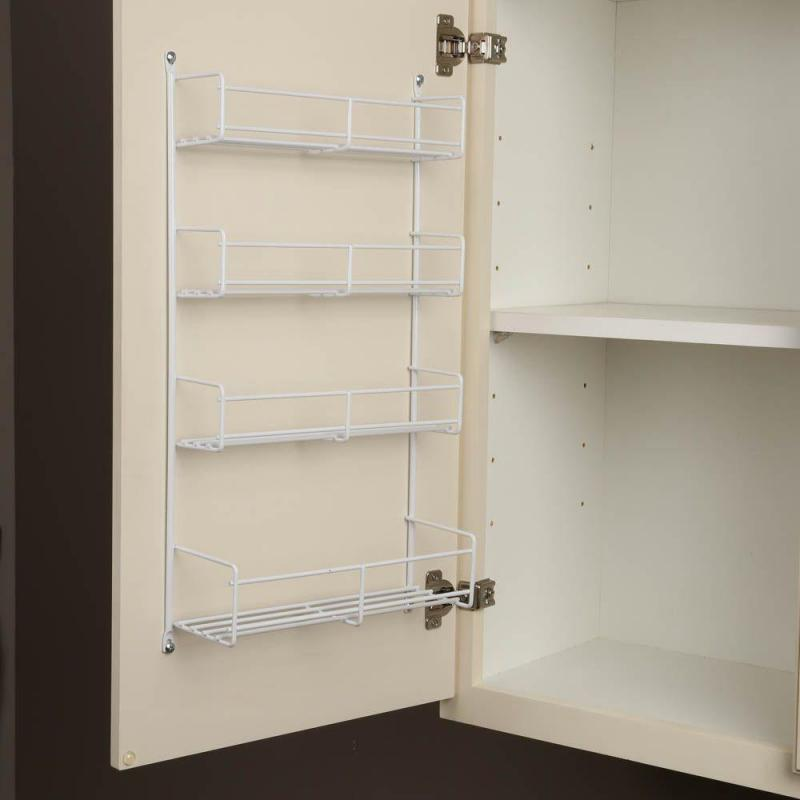 KV SR18-W, 13-13/16 Cabinet Door Spice Rack, KV Series, White Wire, 13-13/16 W x 3-7/8 D x 20 H, 5-Pack, Knape and Vogt :: Image 20