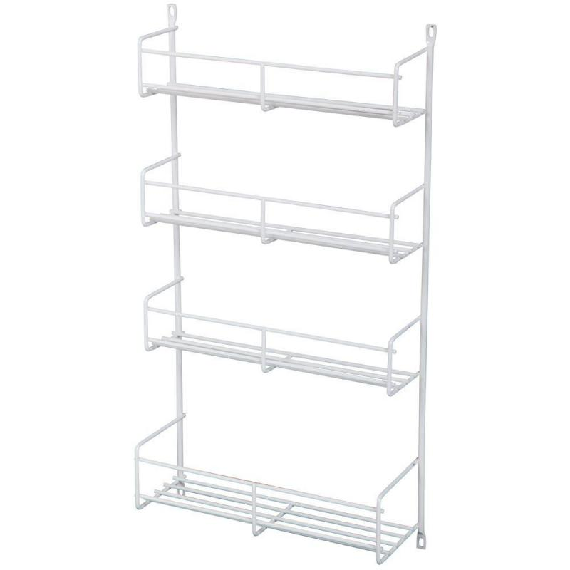 KV SR18-W, 13-13/16 Cabinet Door Spice Rack, KV Series, White Wire, 13-13/16 W x 3-7/8 D x 20 H, 5-Pack, Knape and Vogt :: Image 10