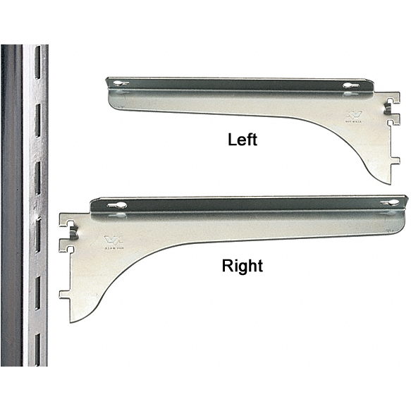 KV 183R ANO 20, 20in 183 Series Shelf Bracket, Right Flange, Anochrome, Knape and Vogt :: Image 20