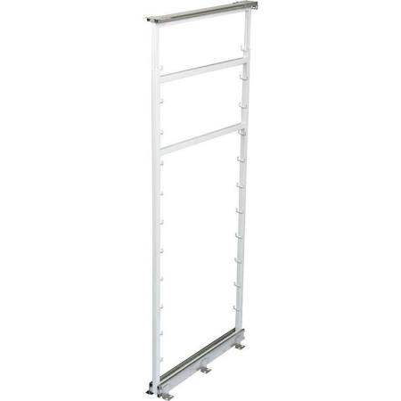 KV P5050FE-W Side-Mount Pantry Pull-Out, White, Knape and Vogt :: Image 5