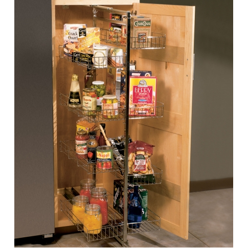 KV P5050FE-W Side-Mount Pantry Pull-Out, White, Knape and Vogt :: Image 10