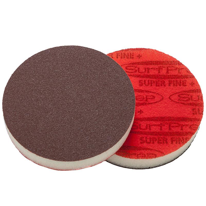 "SurfPrep 6""x1/2"" Red Foam Abrasives Disc, 180 Super Fine, Aluminum Oxide, No Hole, Hook/Loop :: Image 10"