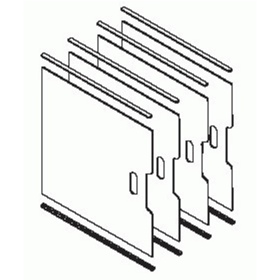 Omega National TS2424, Tra-Sta Organizer Kit - Tray Dividers, Maple Veneer :: Image 30
