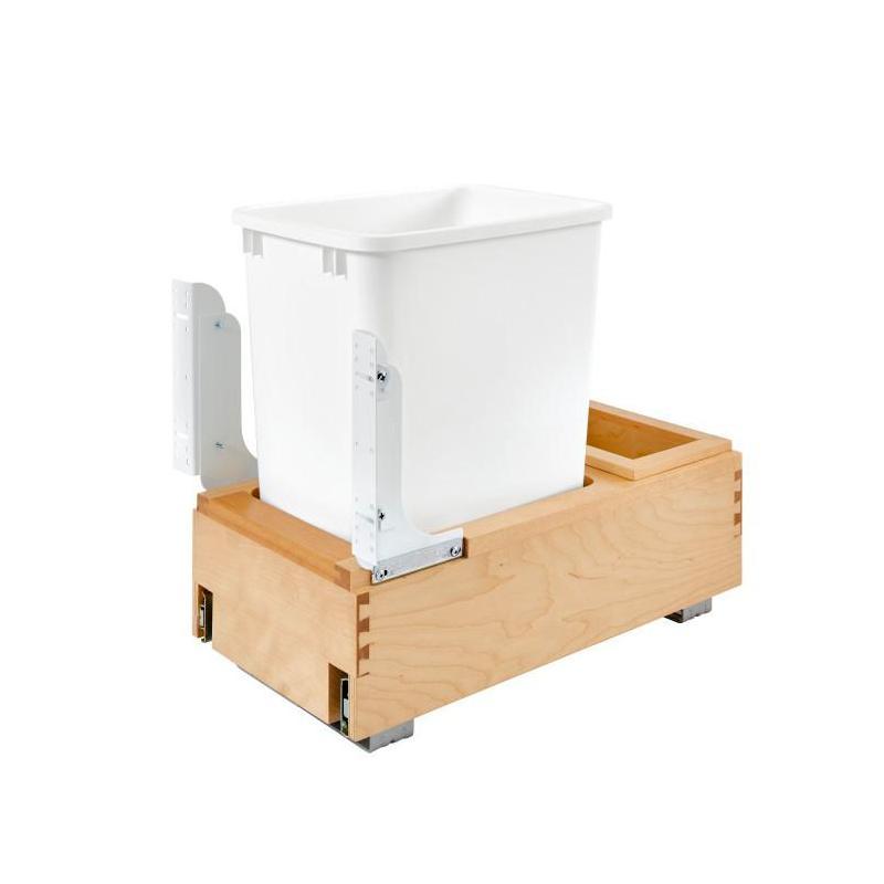 Rev-A-Shelf 4WC-15DM1, 35 Qt. Bottom Mount Trash Pull-Out, Solid Wood Frame :: Image 10