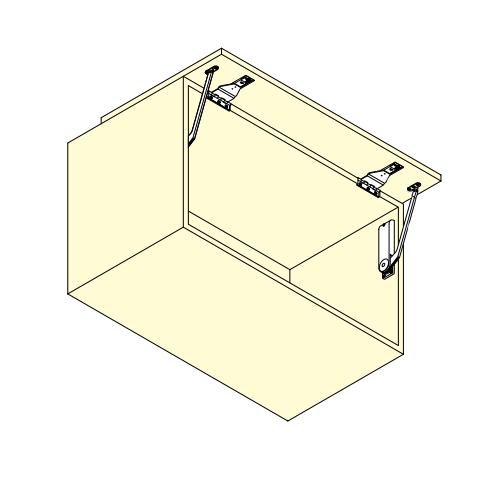 Sugatsune OVN-3/BLK, Soft Close Door Mechanism for Over-The-Top Flipper Doors, 6.6-11 lbs, Nickel/Black :: Image 20