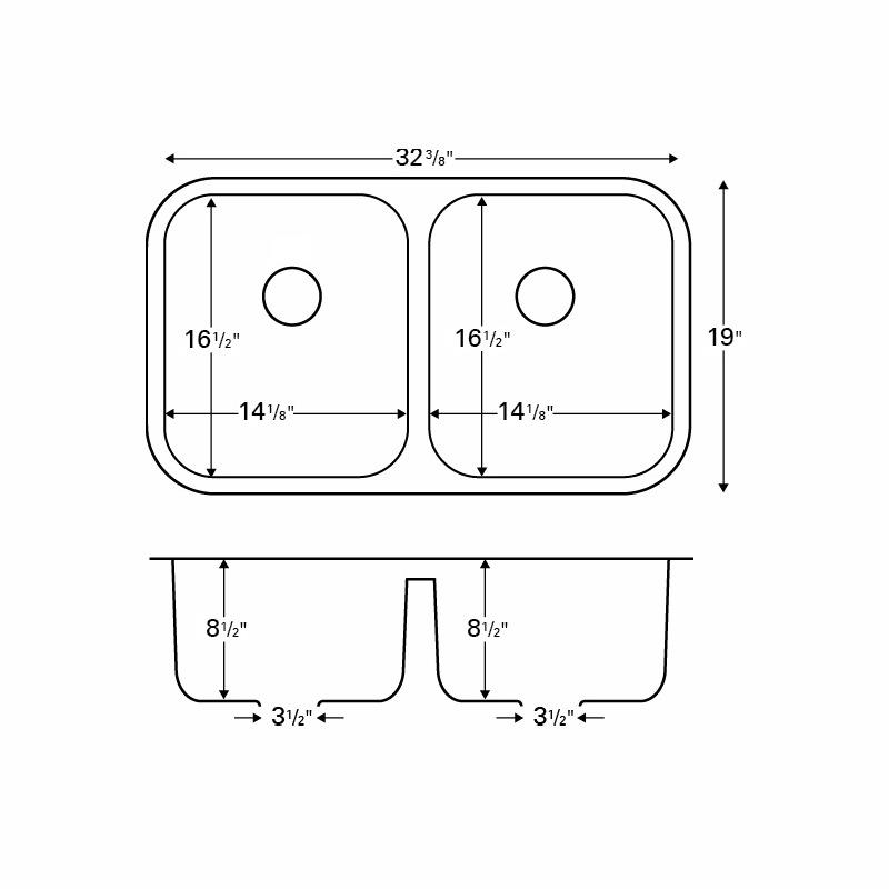 "Karran Q350BR, 32-3/8"" x 19"" Quartz Undermount Kitchen Sink Double Equal Bowls, Brown :: Image 20"