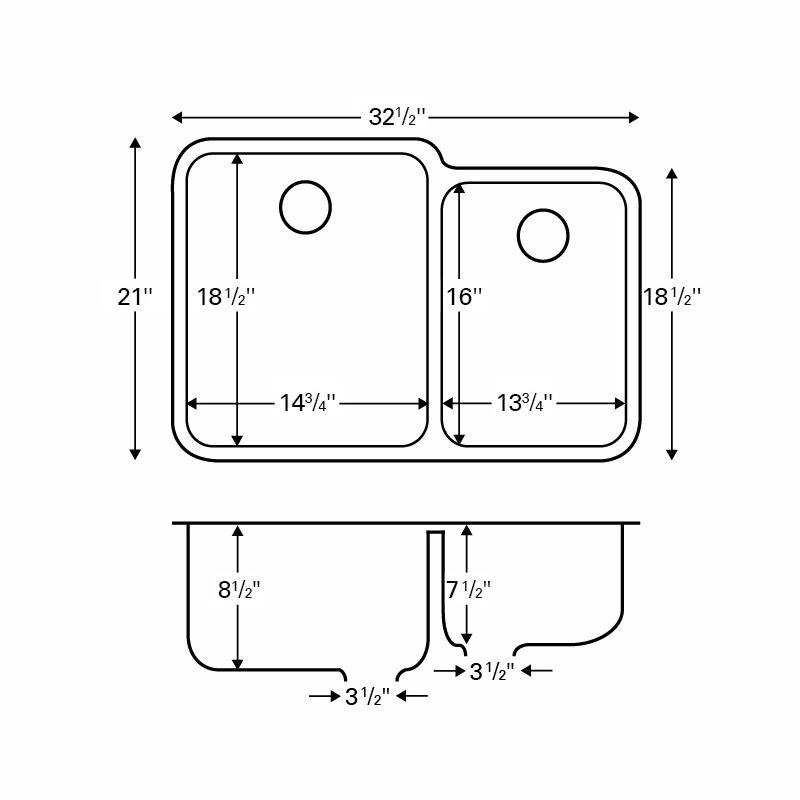 """Karran Q360WHITE, 32-1/2"""" x 21"""" Quartz Undermount Kitchen Sink Extra Large Single Bowl, White :: Image 20"""