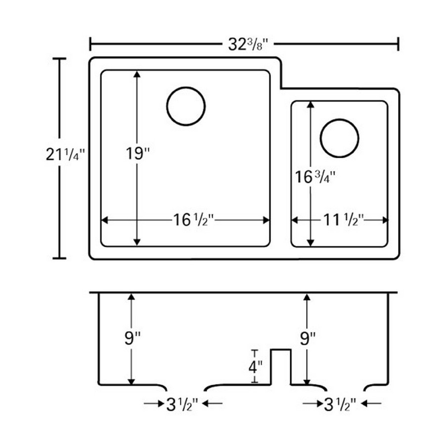 "32"" Undermount Large/Small Bowl Quartz Kitchen Sink White Karran QU-811-WH :: Image 50"