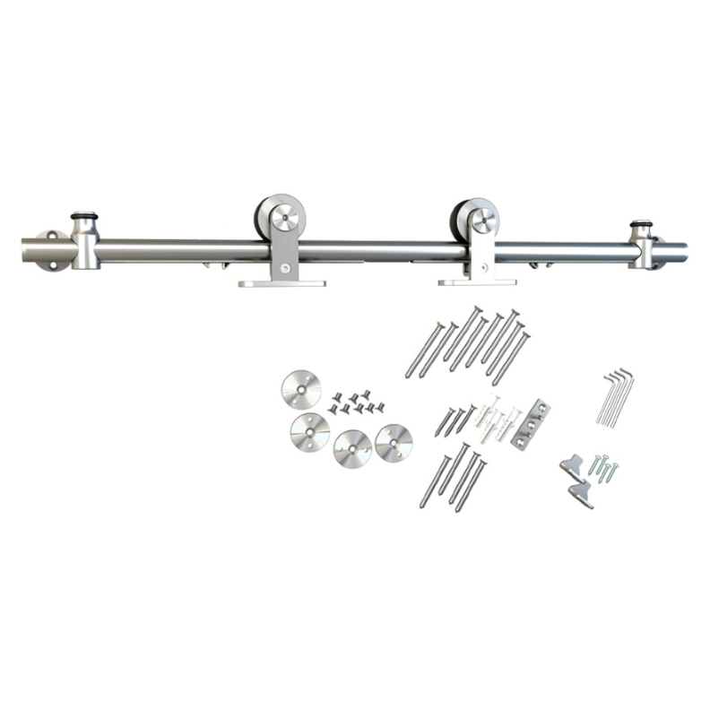 Barn Door Hardware Kit with Soft-Close, Round Rail, Top Mount, Stainless Steel, WE Preferred 77123 56 004 :: Image 10