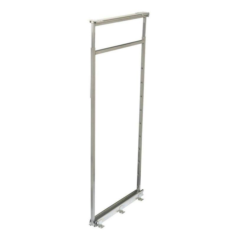 KV P1875CM-FN, Pantry Pull-Out Frame, Frosted Nickel, Baskets Center Mount, 3-13/16 W x 20-1/2 to 22-1/2 H x 22-1/4 D, Max Baskets: 2 :: Image 10