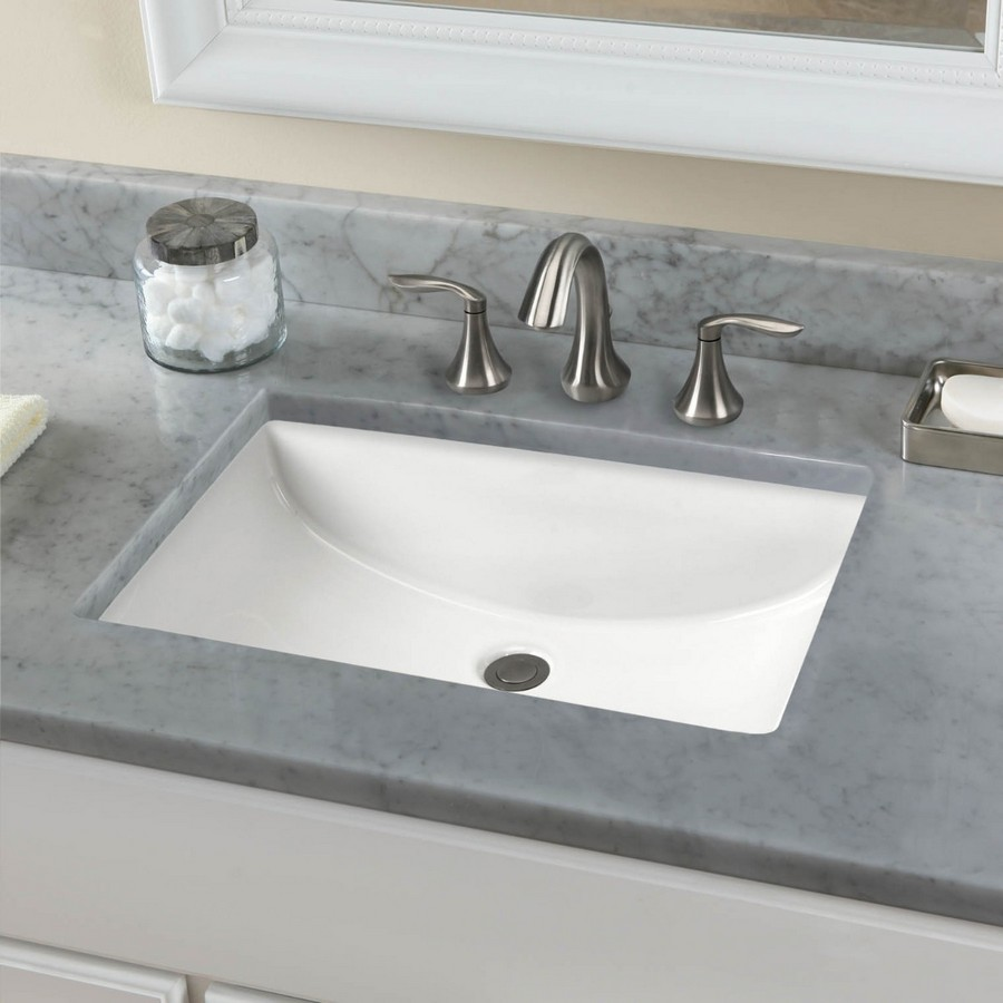 Undermount Vitreous China Vanity Sink Bisque Karran VC-106-BS :: Image 20