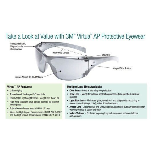 Clear Lens Anti-Fog Adjustable Safety Glasses, 3M Virtua 11818 :: Image 20